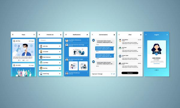 Social Interaction Mobile UI Application Design