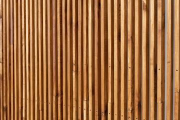 Wooden slats on wall in modern interior