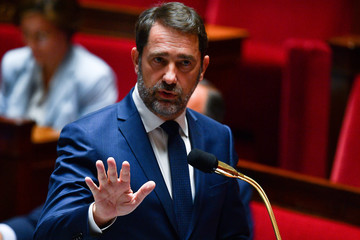 French Interior Minister Christophe Castaner speaks during a session of questions to the government at the French National Assembly in Paris
