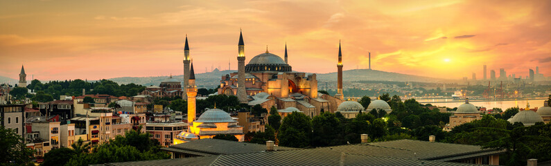 Papiers peints Con. Antique Hagia Sophia in Istanbul