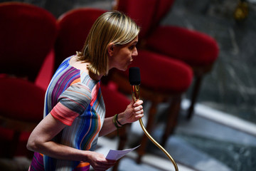 French Junior Minister for Economy and Finance Agnes Pannier-Runacher speaks during a session of questions to the government at the French National Assembly in Paris
