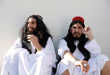 Newly freed Taliban prisoners sit at Pul-i-Charkhi prison, in Kabul, Afghanistan