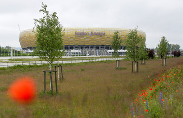 General view of the Stadium Energa in Gdansk