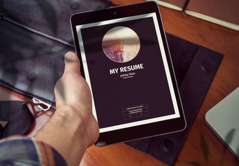 Simple Digital Resume Layout