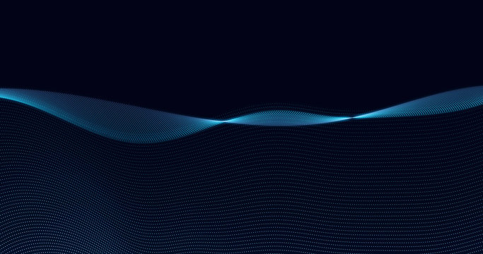 Data stream simulation technology powerpoint background particle field