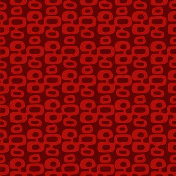 "Dark red and orange Mid-Century Modern ""Tiki"" pattern, repeatable and seamless."