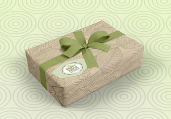 Gift Wrapped Box Mockup