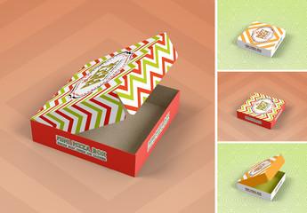 Mini Pizza Box Packaging Mockup