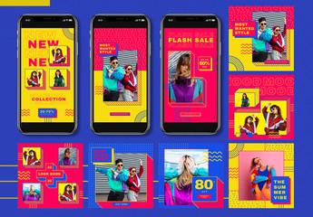 90S Summer Fashion Social Media Pack