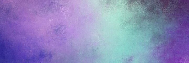 beautiful vintage abstract painted background with medium purple and light slate gray colors and space for text or image. can be used as horizontal background texture