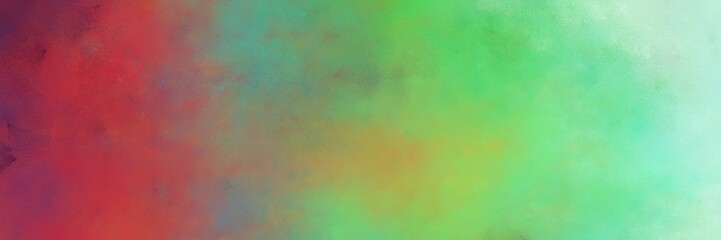beautiful abstract painting background texture with pastel green, dark moderate pink and powder blue colors and space for text or image. can be used as horizontal background graphic Wall mural