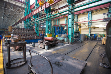 Ussuriysky Locomotive Repair Plant. Workshop repair factory