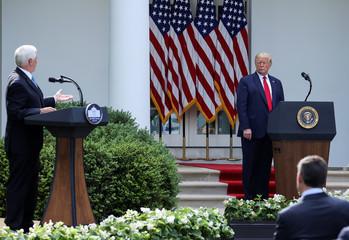 U.S. President Trump hosts Rose Garden event at the White House during coronavirus disease (COVID-19) outbreak in Washington