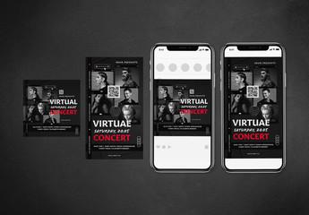 Virtual Concert Social Media Post Layouts