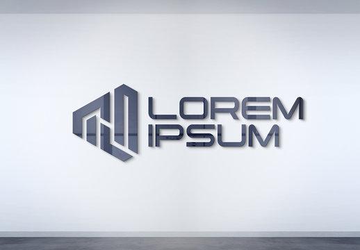 Logo Mockup on Office Wall