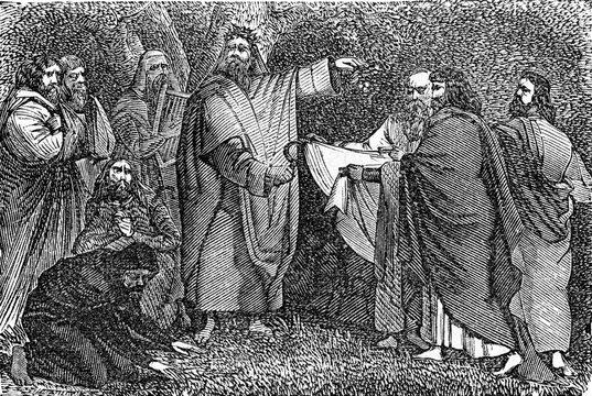 The druids. vintage illustration.