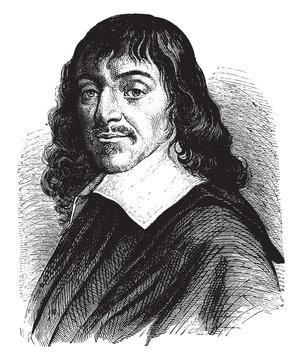 Rene Descartes, vintage illustration.