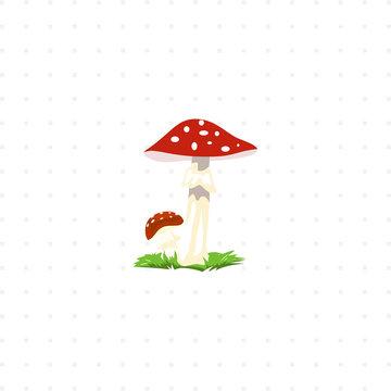 mushroom isolated illustration