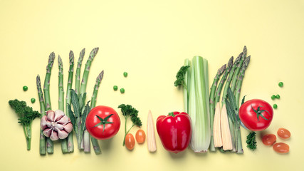 Wall Mural - Fresh fruits and vegetables