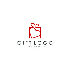 gift logo vector template download modern design
