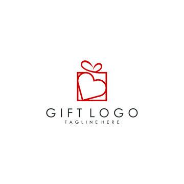 gift logo vector template download modern design