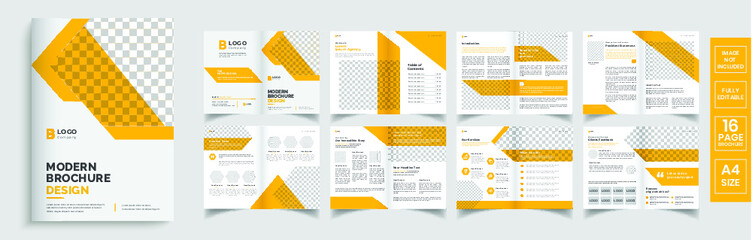 Brochure template layout design, minimal business brochure design, annual report editable brochure template layout