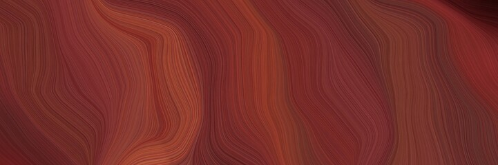 landscape orientation graphic with waves. contemporary waves design with old mauve, sienna and very dark pink color