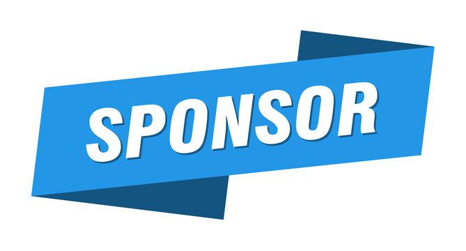 sponsor banner template. sponsor ribbon label sign