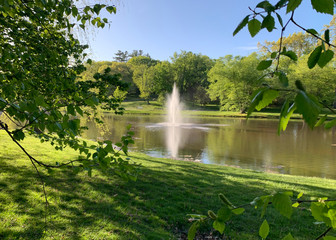 Beautiful day at Larz Anderson Park in Brookline, Massachusetts, United States