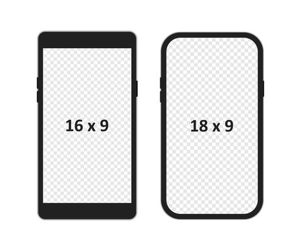 Smartphone mockup isolated vector illustration. Phone simple icon in flat.
