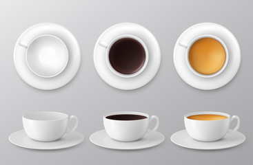 coffee cup assortment collection. Vector illustration
