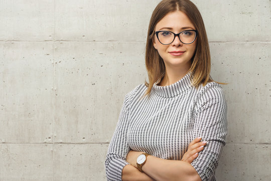 young woman ready for job - business concept
