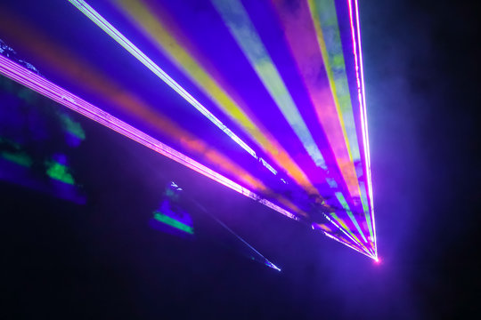 Colorful laser show