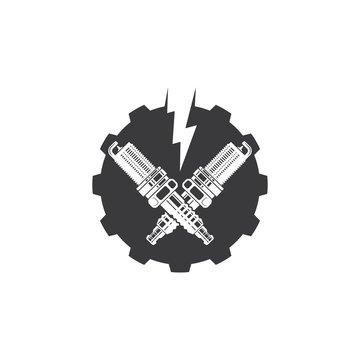 sparkplug icon vector illustration