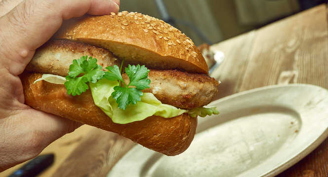 Southern fried fish finger sandwiches