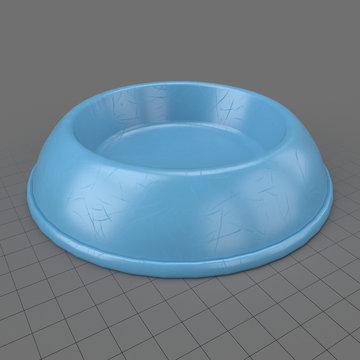 Empty dog bowl