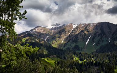 Landscape of the beautiful mountain valley