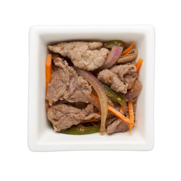 Asian cuisine - Stir fried beef slices
