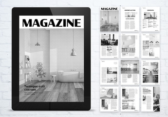 Design and Architecture Cultural Digital Magazine Layout