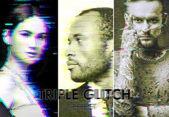 Glitch Effect Mockup Set