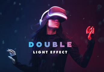 Double Light Photo Effect Mockup