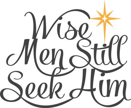 Vector Wise Men Still Seek Him North Star Phrase