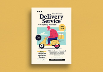 Delivery Service Flyer Layout