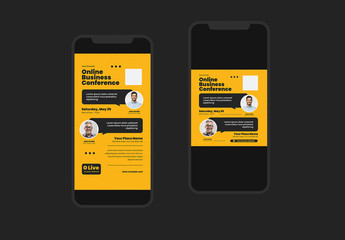 Online Business Conference Social Media Post Layouts