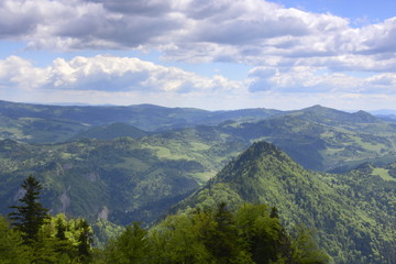 Obraz Pieniński Park Narodowy, panorama ze szczytu Trzy Korony - fototapety do salonu