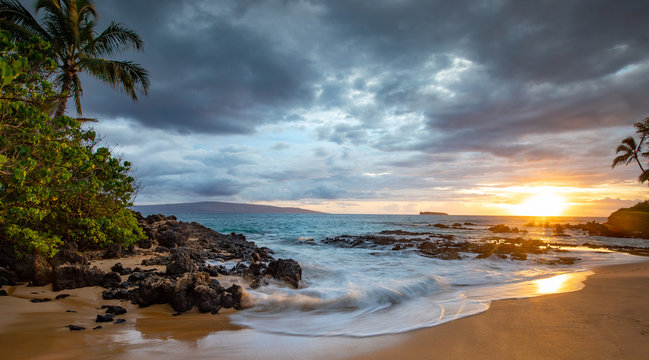 Sunset from Makena Cove on Maui