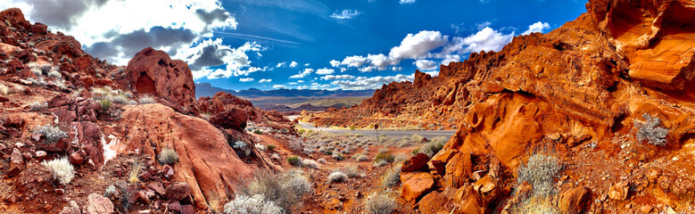 Fotorolgordijn Baksteen Amazing landscape in Valley of Fire