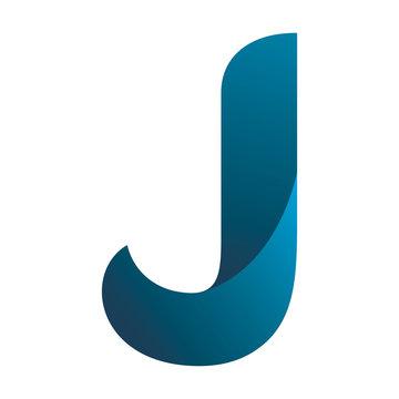 letter j blue logo design