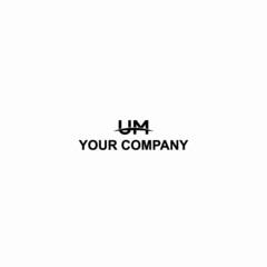 Fototapeta business logo design LETTER UM obraz