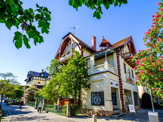 Starnberg, Germany - May, 6: houses at the old town in the center of Starnberg on May 6, 2020
